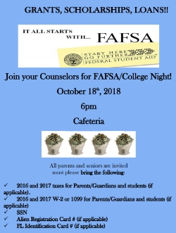 FAFSA Night - GRANTS, SCHOLARSHIPS, LOANS!!
