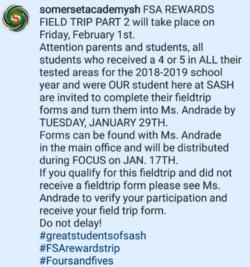 FSA Reward FT 2/1/19