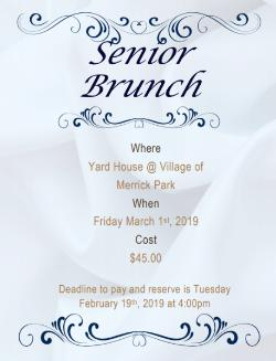 Senior Brunch is up!