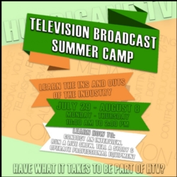 FREE HTV Summer Camp available July 29-August 8th